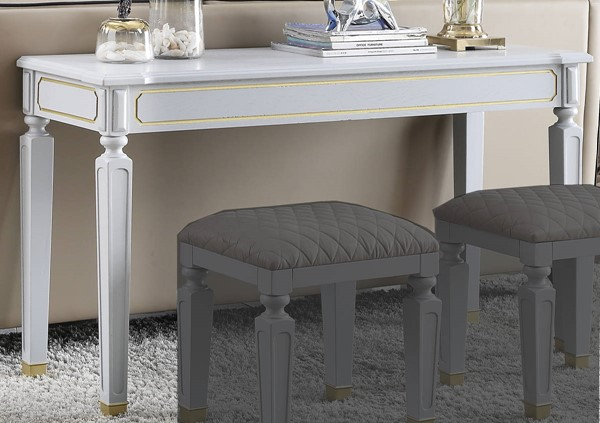 Acme Furniture House Marchese Pearl Gray Sofa Table ACM-88868