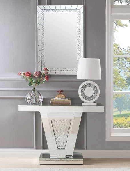 Acme Furniture Nysa Console Table and Mirror Set ACM-90064-97386-S1