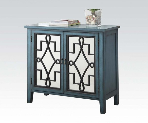 Kacia Antique Light Blue Wood Console Table ACM-90184