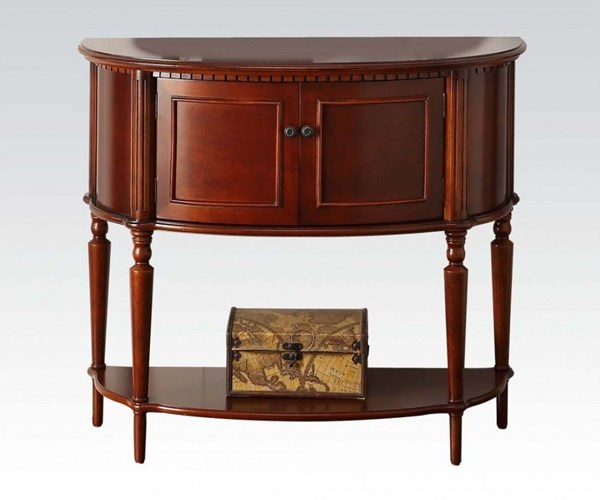 Aplinas Cherry Wood Console Table w/Bottom Shelf ACM-90198