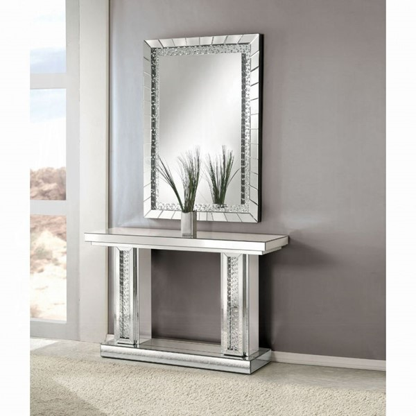 Acme Furniture Nysa MDF Console Table and Mirror ACM-90230-CON-MIR