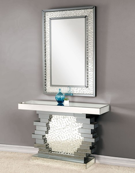 Acme Furniture Nysa Console Table and Mirror ACM-90232-CON-MIR