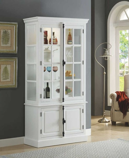 Acme furniture iovius white curio cabinet the classy home for Acme kitchen cabinets