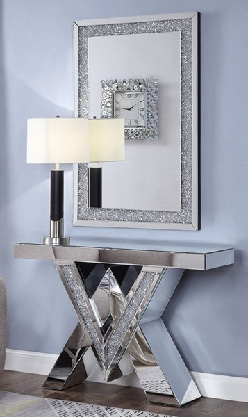Acme Furniture Noralie Console Table and Mirror ACM-90444-97573-S1