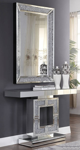 Acme Furniture Noralie Solid Base Console Table and Mirror ACM-90450-97572-S1