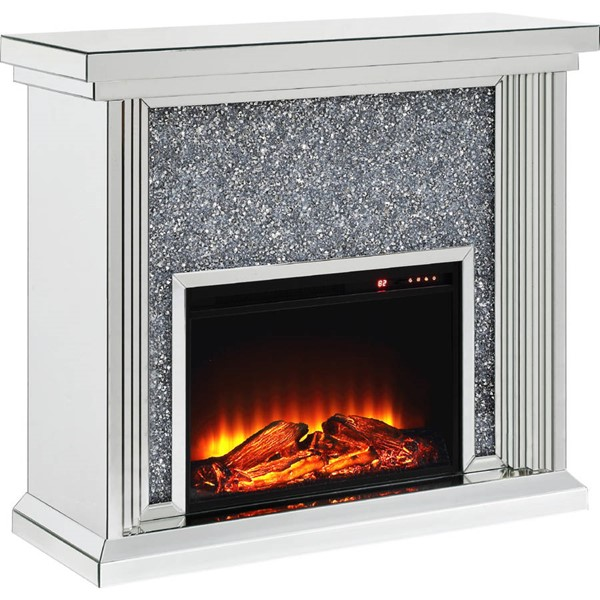 Acme Furniture Noralie Clear Glass Fireplace ACM-90455