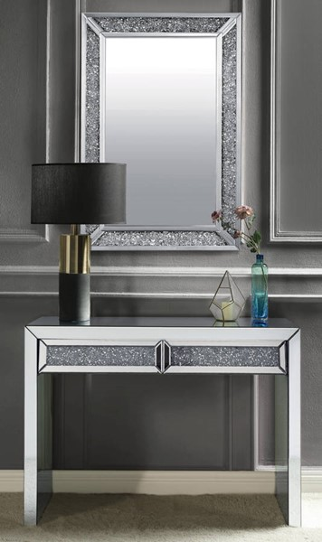 Acme Furniture Noralie Clear 2 Drawers Console Table and Mirror ACM-90505-97572