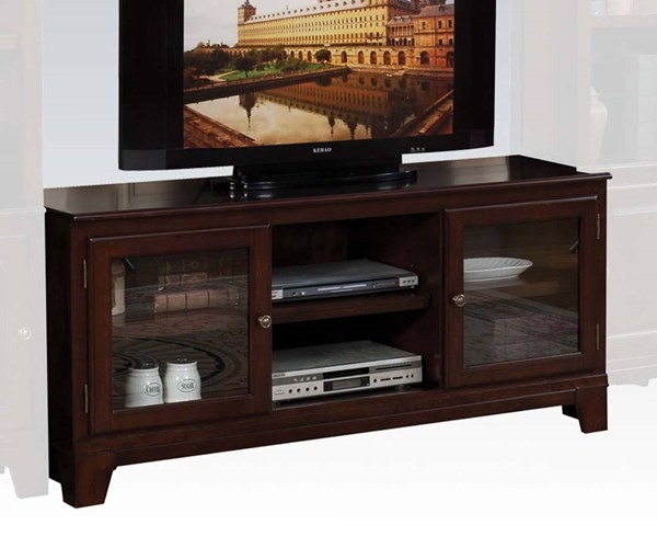 Halden Merlot Wood TV Stand w/Door & Shelf ACM-91093