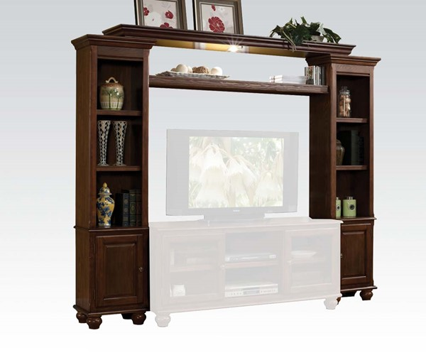 Dita Walnut Wood 3 Shelf Entertainment Center ACM-91105