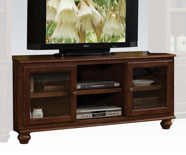 Dita Walnut Wood TV Stand w/Door & Shelf ACM-91108