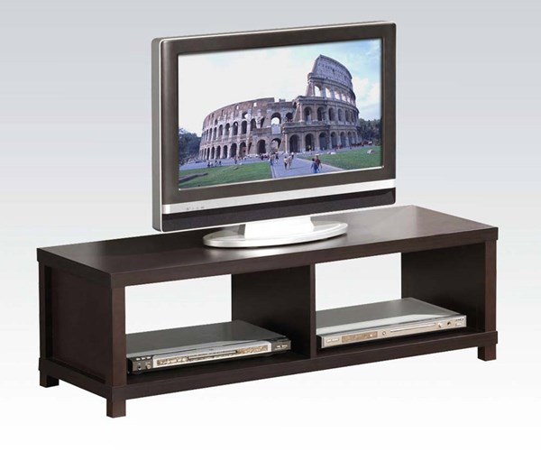 Carmeno Espresso Wood TV Stand w/2 Shelves ACM-91115