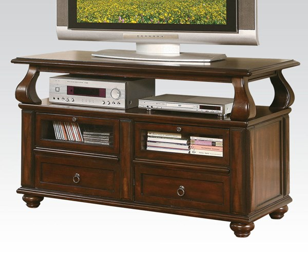 Amado Walnut Wood 2 Drawers TV Stand w/Open Compartments ACM-91133