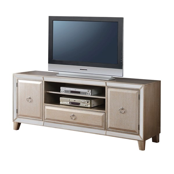 Acme Furniture Voeville Antique Silver TV Stand ACM-91203