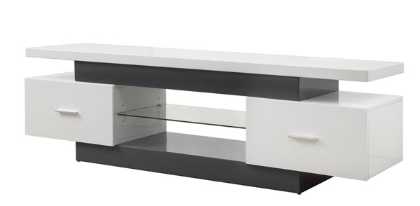 Acme Furniture Vicente White Gray TV Stand ACM-91302