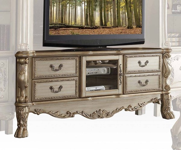 Acme Furniture Dresden Gold Patina TV Console ACM-91333
