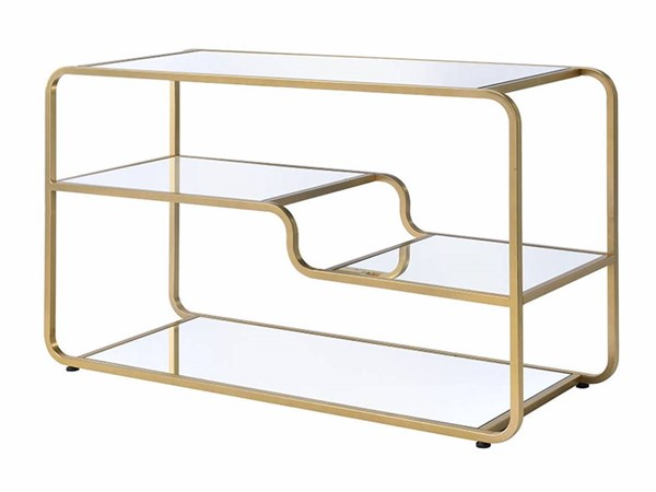 Acme Furniture Astrid Gold Mirror TV Stand ACM-91395