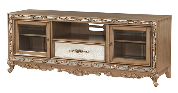 Acme Furniture Orianne Antique Gold TV Stand ACM-91433