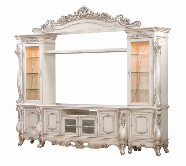 Acme Furniture Gorsedd Antique White Entertainment Center with TV Stand ACM-91443-ENT