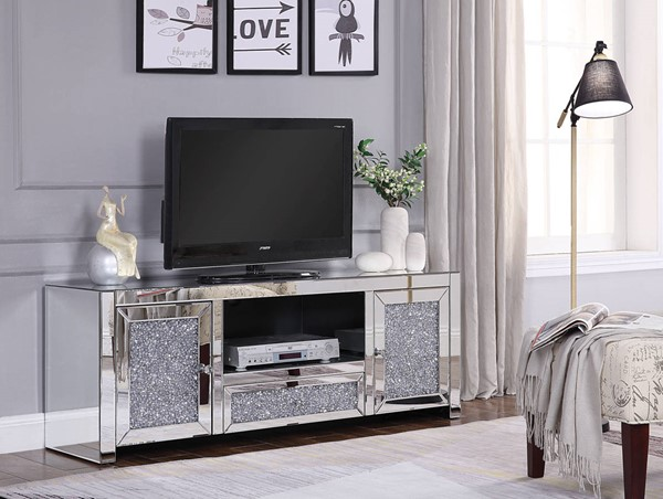 Acme Furniture Noralie Clear TV Stand ACM-91450