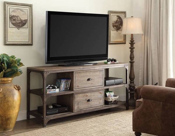 Acme Furniture Gorden Weathered Oak TV Stand ACM-91504