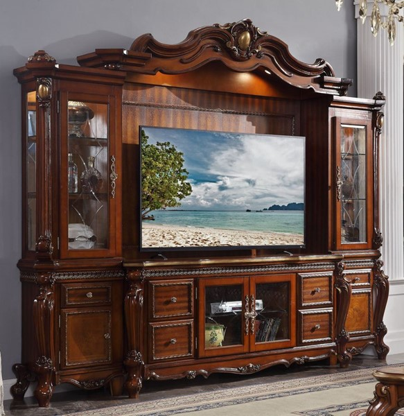 Acme Furniture Picardy Cherry Oak Entertainment Center ACM-91520