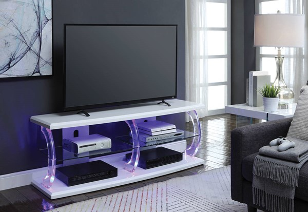 Acme Furniture Aileen White 60 Inch TV Stands ACM-9155-60-TV-VAR