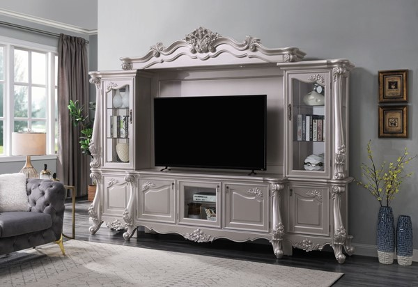 Acme Furniture Bently Champagne Entertainment Center with TV Stand ACM-9166-ENT-S1