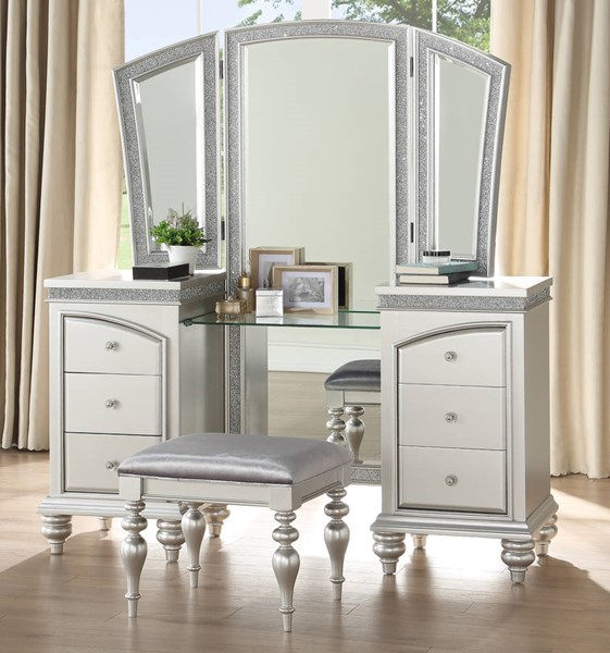 Acme Furniture Maverick Platinum Vanity Set ACM-9180-VNT