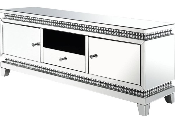 Acme Furniture Lotus Clear TV Stand ACM-91835
