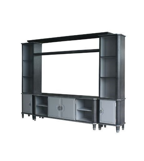 Acme Furniture House Beatrice Charcoal Light Gray Entertainment Center Wall ACM-9198-ENT-S1