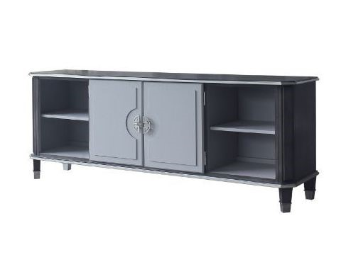 Acme Furniture House Beatrice Charcoal Light Gray TV Stand ACM-91983