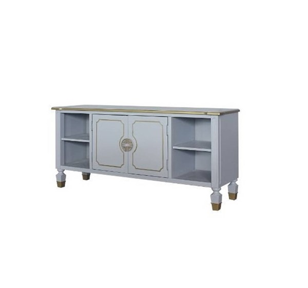 Acme Furniture House Marchese Pearl Gray TV Stand ACM-91993