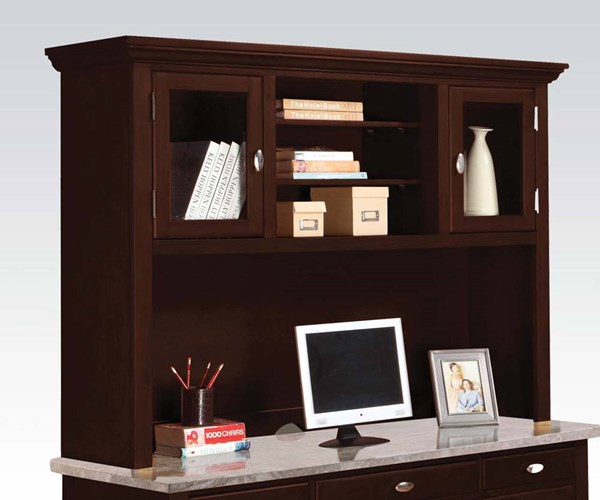 Britney White Wood 2 Drawers Office Hutch ACM-92013
