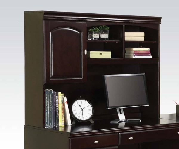 Cape Espresso Solid Wood Office Hutch w/Door ACM-92030