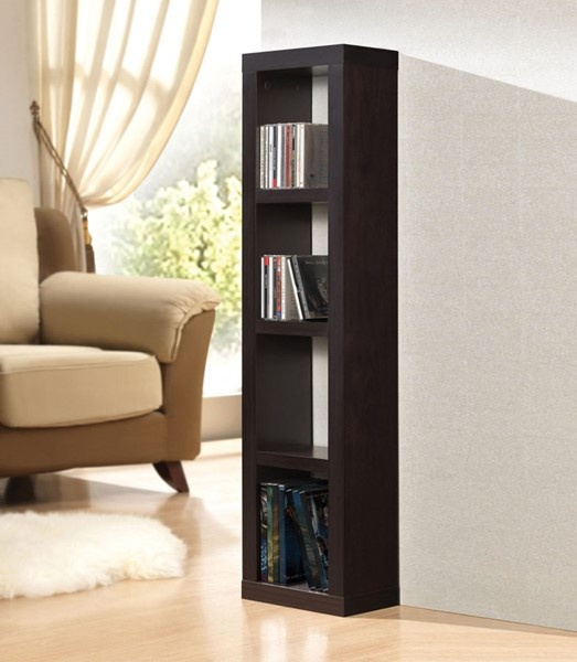 Acme Furniture Carmeno Espresso CD DVD Unit Bookcase ACM-92067