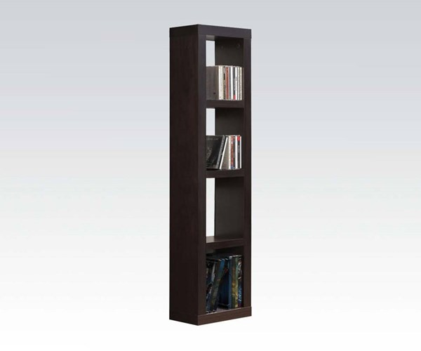 Carmeno Espresso Wood Bookcase CD/DVD Unit ACM-92067