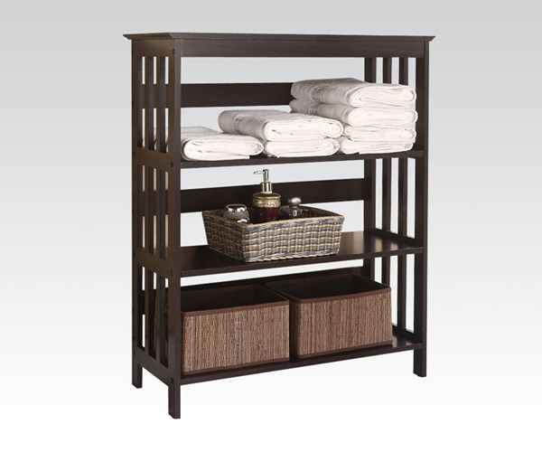 Opeli Espresso Wood Shelf Rack w/3 Tiers ACM-92100