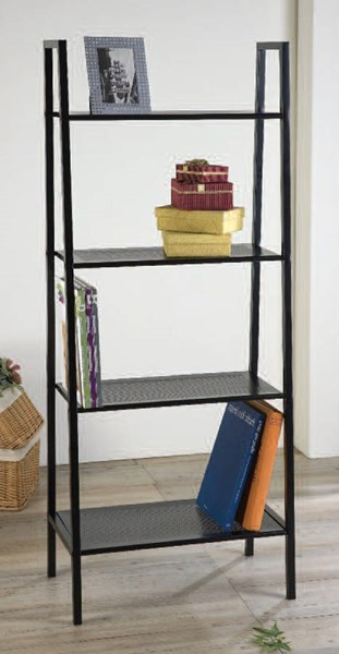 Eason Black Metal Tall Book Shelf w/4 Tier ACM-92158