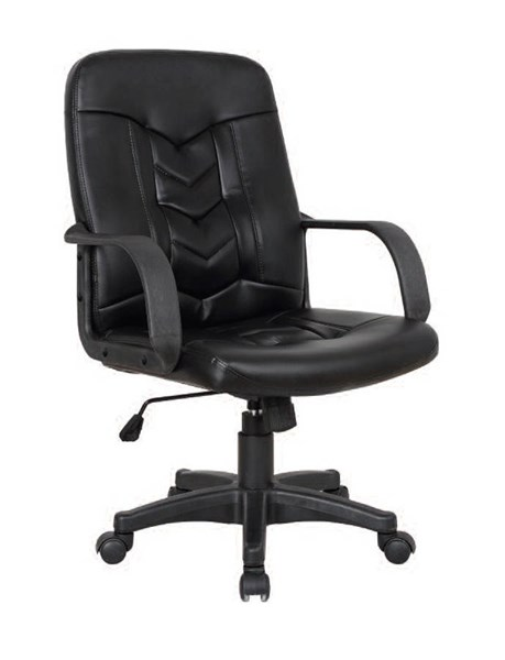 Nicky Black PU Metal Pneumatic Lift Office Chair ACM-92174