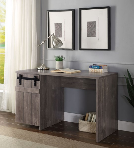 Acme Furniture Bellarosa Gray Washed Desk ACM-92205