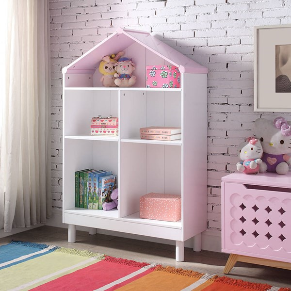 Acme Furniture Doll Cottage White Pink Bookcases ACM-9222-BC-VAR