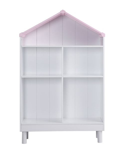 Acme Furniture Doll Cottage White Pink Bookshelf ACM-92223