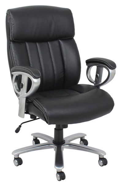 Kera Black Bonded Leather PVC Metal Pneumatic Lift Office Chair ACM-92244