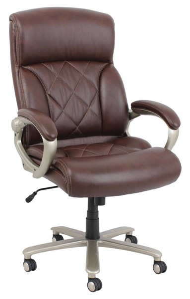 Karl Brown Bonded Leather PVC Metal Pneumatic Lift Office Chair ACM-92245