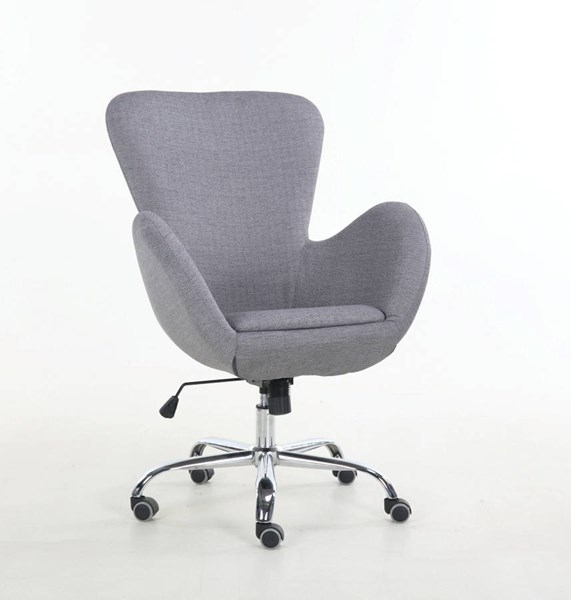 Jacee Gray Fabric Foam Metal Lift Office Chair ACM-92300