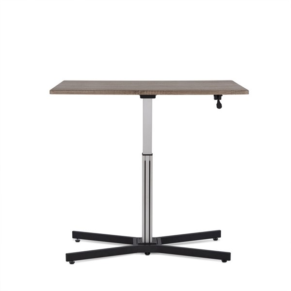 Acme Furniture Inscho Gray Oak Desk with Lift ACM-92350