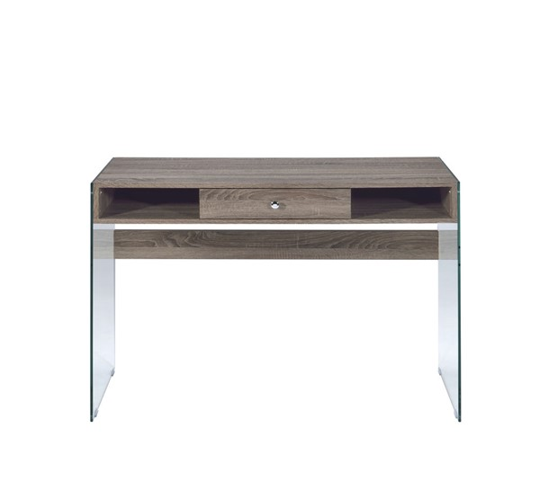 Acme Furniture Armon Gray Oak Side Base Desk ACM-92372
