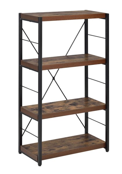 Acme Furniture Bob Weathered Oak Black Bookshelf ACM-92399