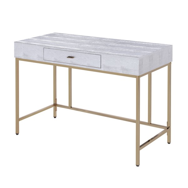 Acme Furniture Piety Silver Desk ACM-92425