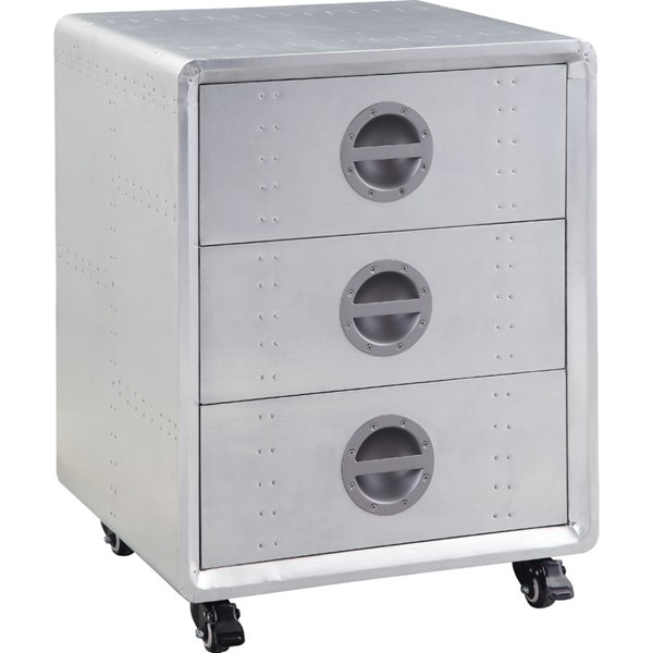 Acme Furniture Brancaster Aluminum Three Drawers Cabinet ACM-92429